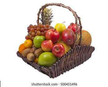 Grapefruit Pineapple Grape Apples Pomegranate Oranges Tangerines Kiwi Melon Mango Fruits Basket