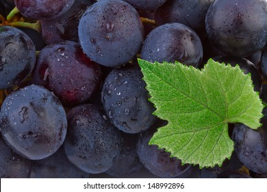 Grapes background. Close up of ripe grapes