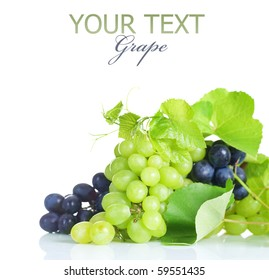 Grapes Border.Isolated on white