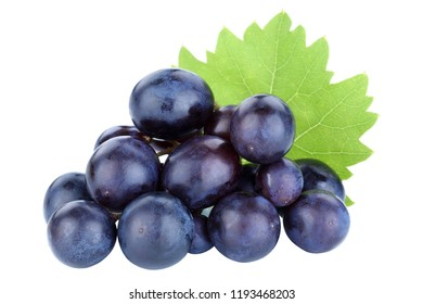 Grapes fruits grape fruit blue isolated on a white background