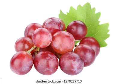 Grapes grape red fruits fruit isolated on a white background