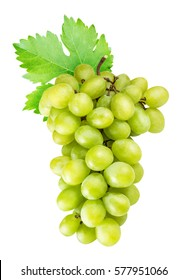 Grapes isolated on white background with clipping pat