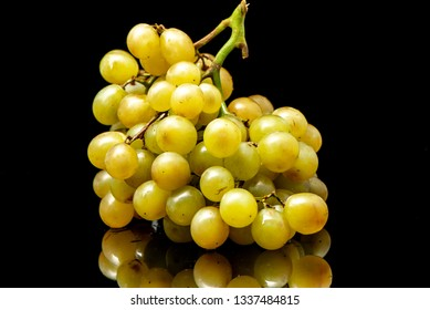 grapes on a black background