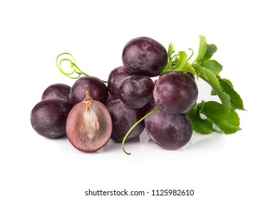 Grapes on a white background.