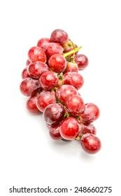 The grapes on white background