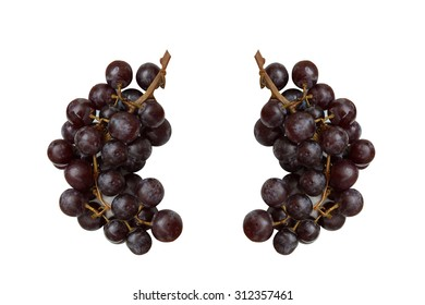 Grapes on a white plate.