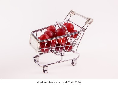 Grapes in Shopping Cart