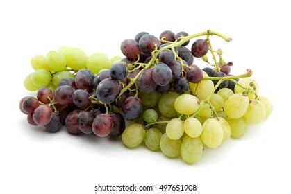 grapes studio isolated over white