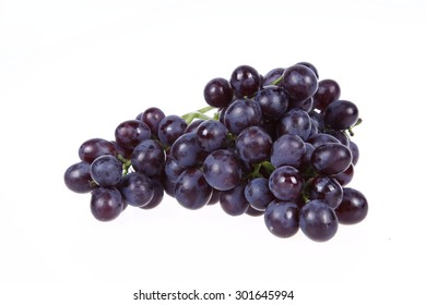 Grapes, white background, close-up