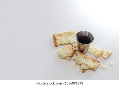 Grapes wine and Unleavened Bread for holy communion.