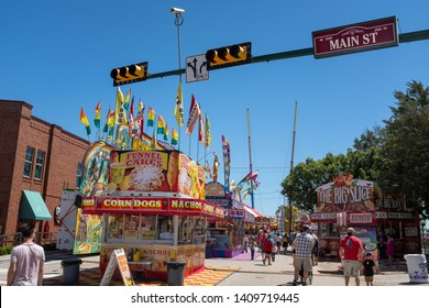 GRAPEVINE, TEXAS - May 5, 2019: Grapevine, TX hosted their annual Main Street Days festival on their downtown streets.
