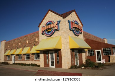 Grapevine, TX - January 5, 2012: Fuddruckers Hamburgers chain restaurant located in Grapevine, TX