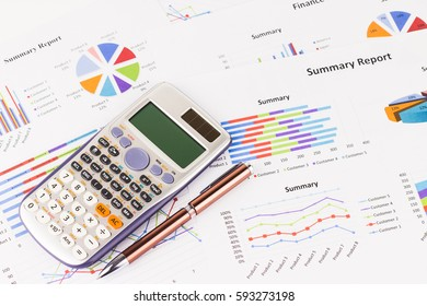 Graph Calculations, savings, finance and economy concept.