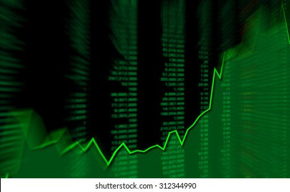 Graph chart of stock market investment in uptrend