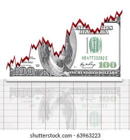 Graph dollar up