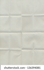 Graph paper folded in sixteen parts. High resolution