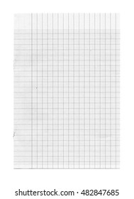 Graph paper isolated on white background for background and frame -Black and White
