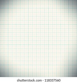 Graph paper with quartered sub sections.