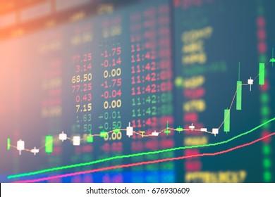 graph of stock market double exposure