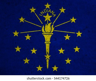 graphic american state grunge flag of indiana