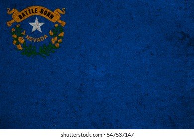 graphic american state grunge flag of nevada