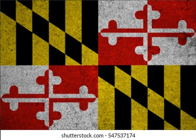 graphic american state grunge flag of maryland