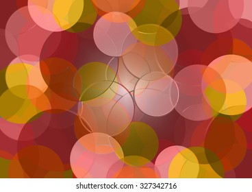 graphic background with colored circles on a neutral background
