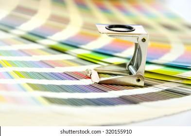 Graphic design, printing, advertising concept