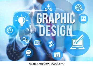 Graphic design service concept illustration