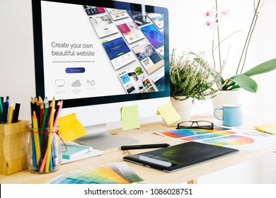 Graphic design studio website builder