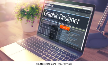Graphic Designer - Opportunity for Advancement. 3D Illustration.