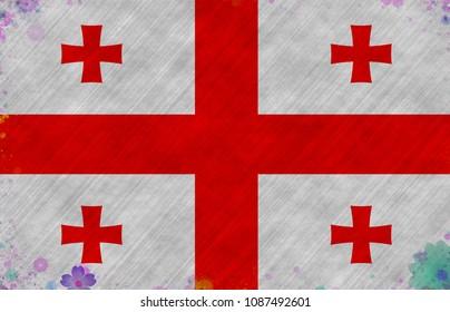 Graphic illustration of a Georgian flag