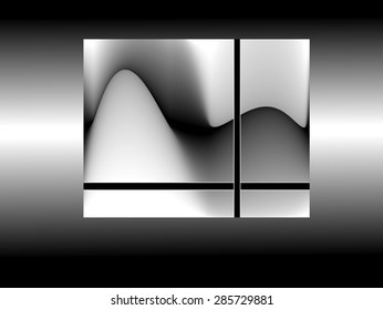 Graphic of an orgasm of an android in light gray, medium and dark colors, on rectangular base, abstract expressionism, abstract surrealism,