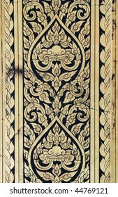 Graphic ornament column decoration in the Grand Palace, Bangkok