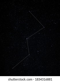 Graphic pattern. Cassiopeia is a constellation in the northern sky, named after the vain queen Cassiopeia in Greek mytholog