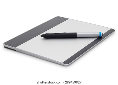graphic tablet isolated on white background with clipping path