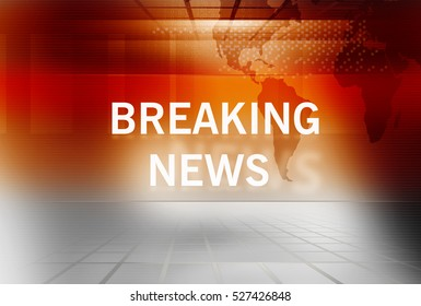 Graphical Breaking News Background with News Text