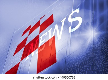 Graphical Digital News Background