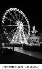 A graphical view of Ferris wheel and Danubius Fountain on Erzsébet Square, Budapest, Hungary, Europe The square was named after Elisabeth, 'Sisi', wife of Habsburg Emperor Franz Joseph, in 1858.