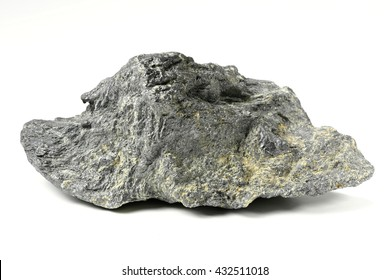 graphite from Bavarian Forest/ Germany isolated on white background