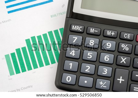 graphs calculator sales by country stock photo edit now 529506850