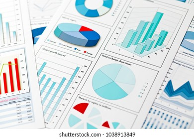 Graphs and charts finance concept