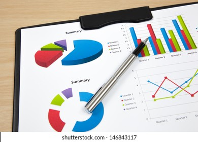 Graphs and charts report on table