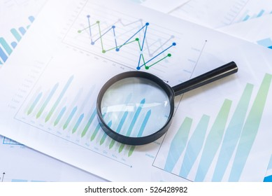 Graphs with magnifying.