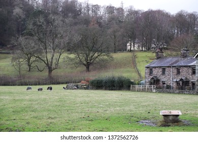 Grasmere, Cumbria, England: December 2018 - The landscape around the village of Grasmere in the Lake District, England.