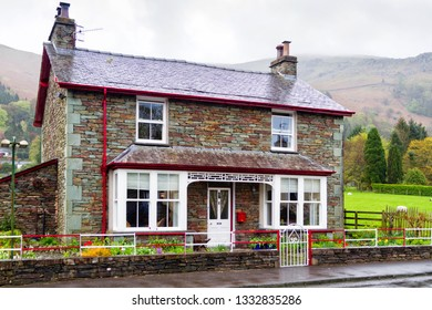 GRASMERE, ENGLAND - MAY 2, 2018: Old stylish mansion in Grasmere, Lake District National Park, England, United Kingdom
