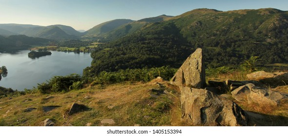 Grasmere. Helm crag and loughrigg fell, Lake District, Cumbria