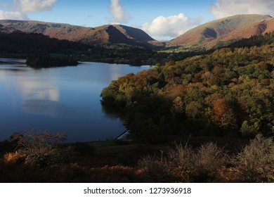 Grasmere reflections, towards helm crag  from Loughrigg terrace