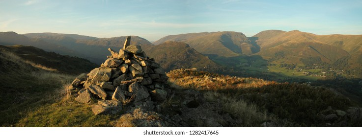 Grasmere valley from Silver How, autumn evening
