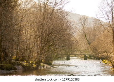 Grasmere/England - February 25th 2018: Grasmere scenary